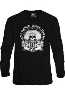 Casaco Moletom Skull Clothing No Lies Masculino - Masculino-Preto