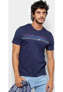 Camiseta Wrangler Estampa Listrada Masculina - Masculino