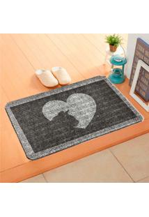 Capacho Carpet Love Cat Cinza