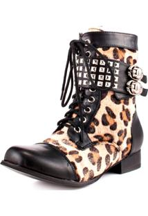 Bota Caráter Abbey Dawn Wild Child Leopardo