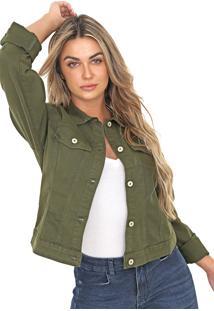 Jaqueta Bloom Jeans Verde Musgo