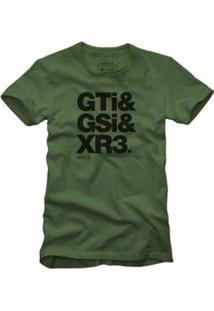 Camiseta Gti Reserva Masculina - Masculino-Verde Escuro