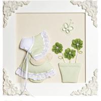 336630f98 Quadro Decorativo Camponesa Vaso Quarto Bebê Infantil Menina Potinho De Mel  Verde