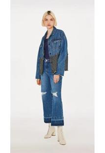 Leboh Jaqueta Lebôh Over Com Tweed Jeans - Feminino