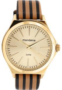 Relógio Mondaine 76686Lpmvdh2 Dourado/Preto/Bege