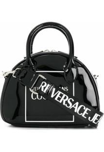 Versace Jeans Couture Bolsa Tote Com Estampa De Logo - Preto