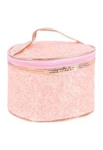 Necessaire Feminina Em Glitter Com Alça De Mão