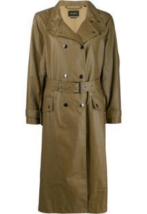Isabel Marant Trench Coat Com Abotoamento Duplo - Verde