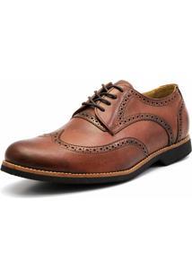 Sapato Social Oxford 3Ls3 Whisky Tamanhos Especiais
