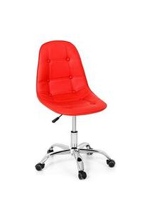 Cadeira Office Eiffel Botonê Base Giratória - Vermelha