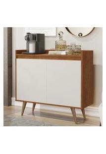 Aparador Buffet Com 2 Portas Retrô Clean - Freijo / Off White - Rpm Móveis
