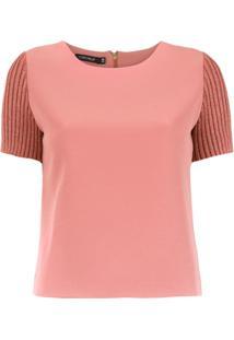 Corporeum Blusa Com Mangas Caneladas - Rosa