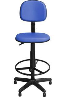 Cadeira De Caixa Pethiflex Csx-02 Giratória Couro Azul