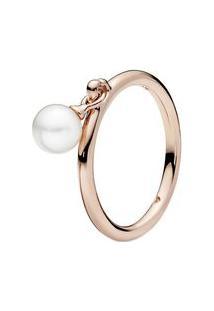 Anel Elegante Esfera Rosê- Rosê Gold- Tamanho 50 = 1Pandora