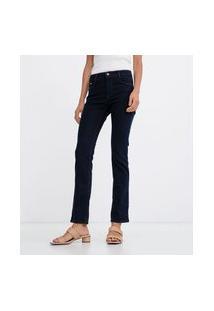 Calça Reta Em Jeans   Marfinno   Azul   36