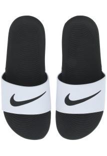 Chinelo Nike Kawa - Slide - Masculino - Branco/Preto