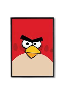 Quadro Decorativo 33X43Cm Nerderia E Lojaria Angry Birds Bird Preto