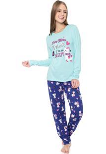Pijama Malwee Liberta Sleepy Azul