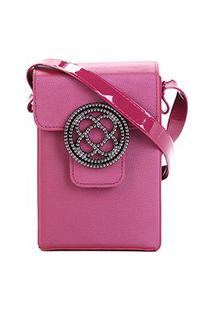 Bolsa Petite Jolie Mini Bag Alça Transversal Shiloh Bag Club Feminina - Feminino-Vinho