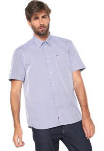 Camisa Aramis Reta Quadriculada Azul
