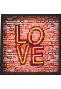 Quadro Decorativo Com Neon Love