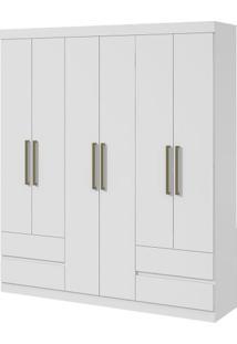 Guarda-Roupa Zeus Plus - 6 Portas - Branco