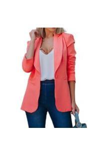 Blazer Max Neon Blush By Coisas De Carolina Alfaiataria Coral