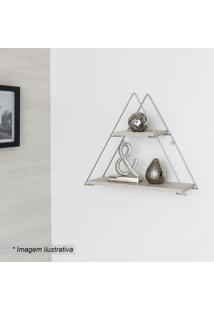 Prateleira Geomã©Trica Triangular- Bege Claro & Prateada