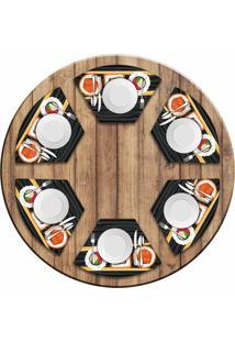 Jogo Americano Love Decor Para Mesa Redonda Wevans Sushi Kit Com 6 Pçs - Kanui