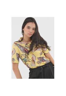 Camiseta Colcci Conchas Amarela