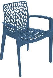 Cadeira Gruvyer Com Braã§O Azul Or Design - Azul - Dafiti