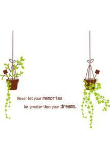 Adesivo De Parede Memories Dreams- Verde Claro & Marrom