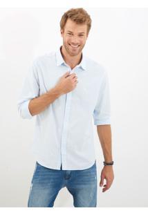 Camisa John John Jared Azul Masculina Camisa Jared-Azul Claro-P