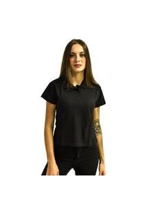 Camiseta Rich Young Pólo Básica Lisa Manga Curta Preta