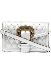 Versace Jeans Couture Metallic-Effect Satchel Bag - Prateado