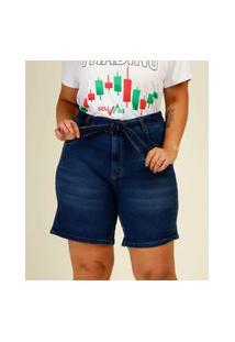 Bermuda Plus Size Feminina Jeans