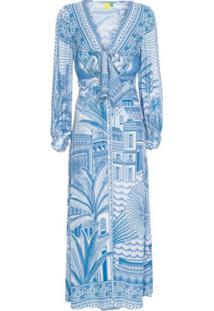 Vestido Cropped Morada Boa Farm – Azul