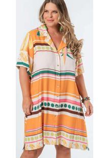 Vestido Almaria Plus Size Munny Chemise Estampado
