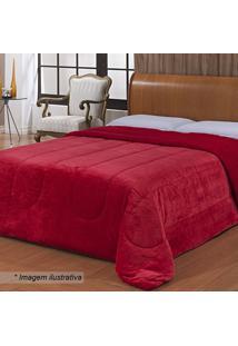 Edredom Liverpool Queen Size- Vermelho- 220X240Cm