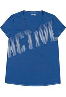 Blusa Azul Active Dry