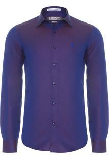 Camisa Masculina Santin Duo - Azul