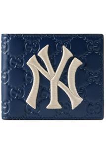 Gucci Carteira Com Patch Ny Yankees™ - Azul