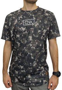Camiseta Cnx Oversized Camo - Camuflada