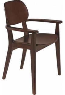 Cadeira De Madeira Com Braços London Tramontina Tabaco
