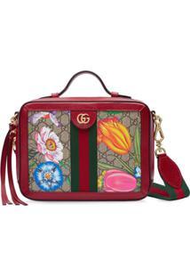 Gucci Small Ophidia Flora Shoulder Bag - Vermelho