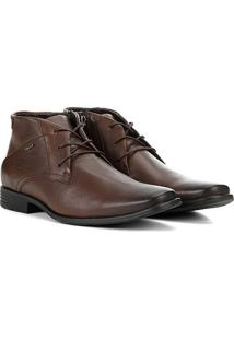 Sapato Social Ferracini Cano Médio Perfuros Masculino - Masculino-Marrom
