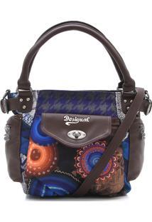 Bolsa Desigual Bordada Azul