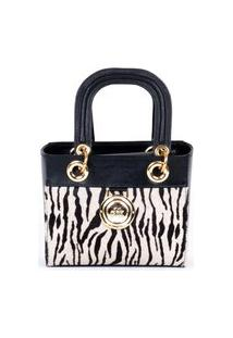 Bolsa Tote Handbag Pequena Zebra Cbk