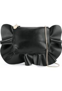 Redvalentino Rock Ruffles Shoulder Bag - Preto