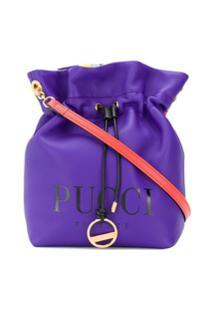 Emilio Pucci Bolsa Com Logo Estampado - Azul